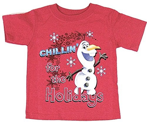Disney Frozen OLAF 'Chillin for the Holidays' Tee T-shirt