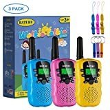 Walkie Talkies, SANJOIN Walkie Talkies for Kids, 22 Channels 2 Way Radios Walkie Talkies with Backlit LCD Flashlight, 3 Mile Range Kids Walkie Talkies for Outside Adventures, Camping, Hiking - 3 Pack