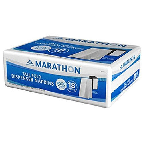 Marathon Tall Fold Dispenser Napkins (4,500 - Napkins Holiday Fold