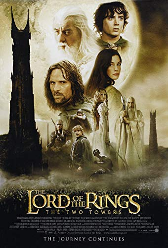 LORD OF THE RINGS THE TWO TOWERS MOVIE POSTER 2 Sided ORIGINAL 27x40