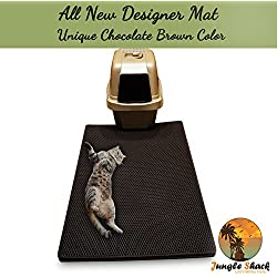 """Cat Litter Mat XL 39"""" X 26.5"""" -Best Extra Large Easy to Clean Mats - Brush Away Debris -Deep Grooves to Catch Kitty Litter Scatter -Durable Non-Slip Bed -Great for Litter Boxes -Purrfect for Paws!"""