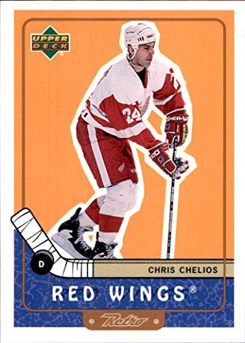 1999-00 Upper Deck Retro #30 Chris Chelios DETROIT RED WINGS (Chris Chelios Wings Red)