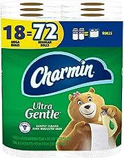 Charmin Ultra Gentle Toilet Paper, 18 Mega Rolls(Equal to 72 Regular Rolls)