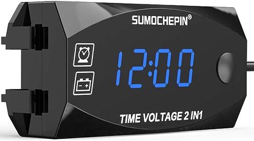 Mini 2 in 1 LCD Digital Auto Auto LKW Uhr Thermometer mit Saugnapf