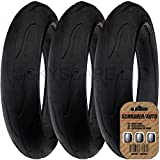 3 x PHIL AND TEDS VIBE (and VIBE 2) Suitable Stroller / Push Chair / Buggy Tires to fit - 300 x 55 (Black) Super Grippy & Fast Rolling + FREE Shipping + FREE Upgraded Skyscape Metal Valve Caps (Worth $4.99)