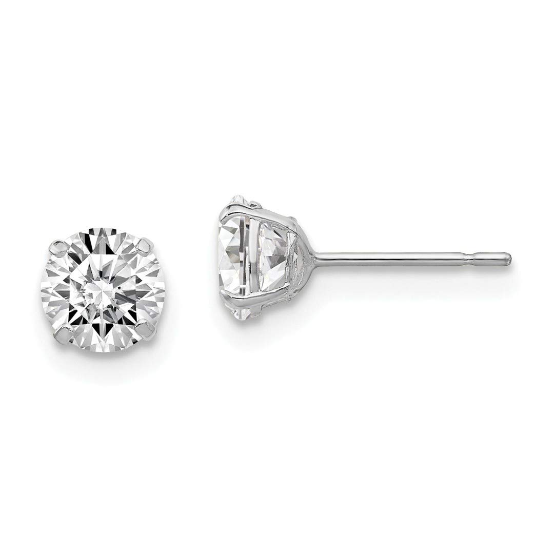 ICE CARATS 925 Sterling Silver Round Cubic Zirconia Cz 5mm Post Stud Ball Button Earrings Fine Jewelry Ideal Gifts For Women Gift Set From Heart