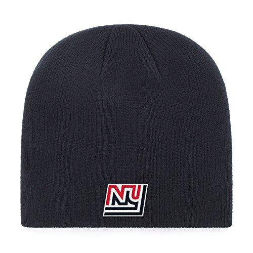 OTS NFL New York Giants Legacy Beanie Knit Cap, One Size, Navy