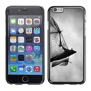 PC/Aluminum Funda Carcasa protectora para Apple Iphone 6 bat scary Halloween black white Dracula / JUSTGO PHONE PROTECTOR