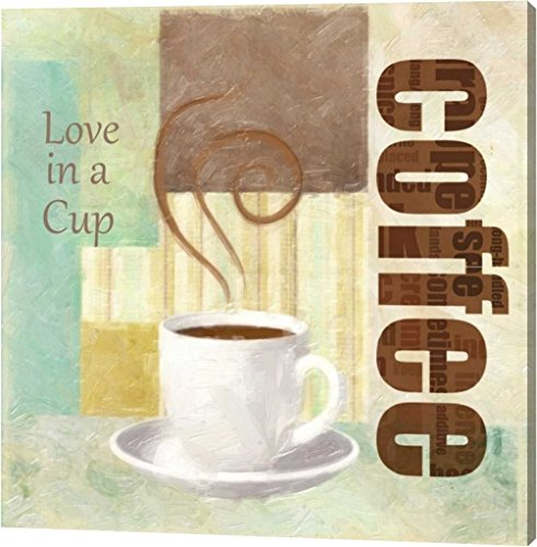 "LOVE IN A CUP by Taylor Greene - 22""x22"" Gallery Wrapped Giclee Canvas Art Print - Ready to Hang"