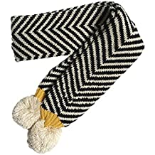 Iuhan Twill Double Ball Shawl Children Winter Baby Warm Boy Girl Knitted Scarf