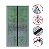 Magnetic Screen Door(2018 New)-26 Strong Magnets-Full Frame Magic Adhesive-Easy Open and Close Design-Fresh Air in-Keep Mosquitoes Out-Pet Friendly-Hands Free-Fits Door Size up to 36 X 82 Inches