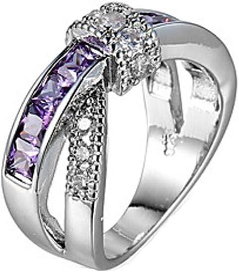 GYJUN Anillo esmeralda para mujer anillos diamante CZ joyería compromiso boda moda