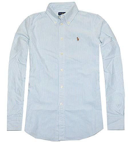Polo Ralph Lauren Womens Classic Fit Oxford Button Down Shirt, Blue/White, S - Knights Classic Polo Shirt