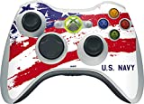 US Navy Xbox 360 Wireless Controller Skin - American Flag US Navy Vinyl Decal Skin For Your Xbox 360 Wireless Controller