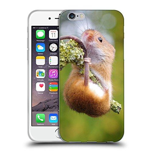 """Just Phone Cases Coque de Protection TPU Silicone Case pour // V00004139 hamster souris se bloque sur le bâton // Apple iPhone 6 4.7"""""""