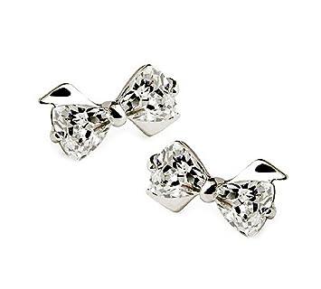 Hosaire 1 Paar Damen Mädchen Ohrringe Fashion Süßes Kristall