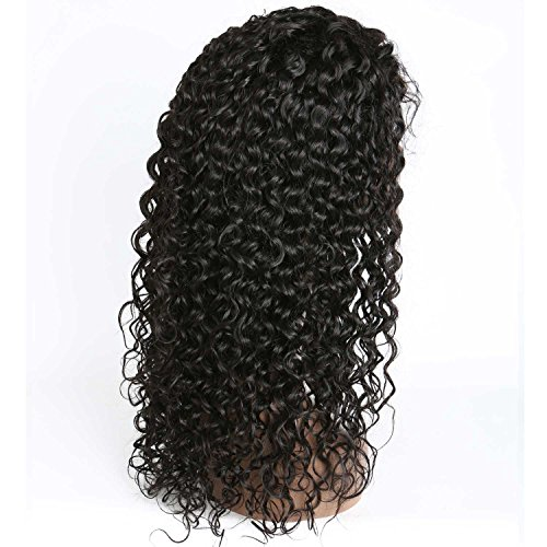 Weave Master Curly Lace Front Human Hair 130% Density Brazilian Remy Wigs with Baby Hair For African Americans Natural Color (16inch) by weave master (Image #7)