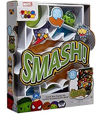 Jakks Pacific Marvel Tsum Tsum - Comic Box Mini Action Figure Set - SMASH - Collect, Stack and Display Your Favorite Marvel Tsum Tsum Characters. Holds 35+ Characters! Exclusive BATTLE TORN HULK! (Action Comics 35)