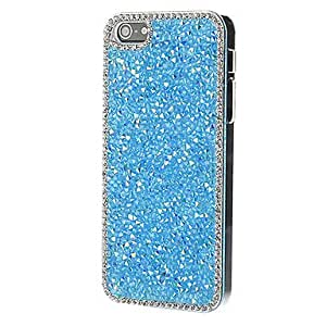 JOEStylish Shiny Blue Crystal Hard Case with Diamond for iPhone 5/5S