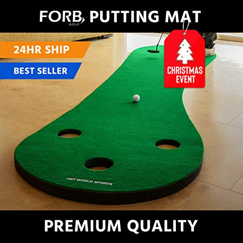 FORB Home Golf Putting Mat 10ft Long - Conquer The Green in Your Own Home! [Net World ()