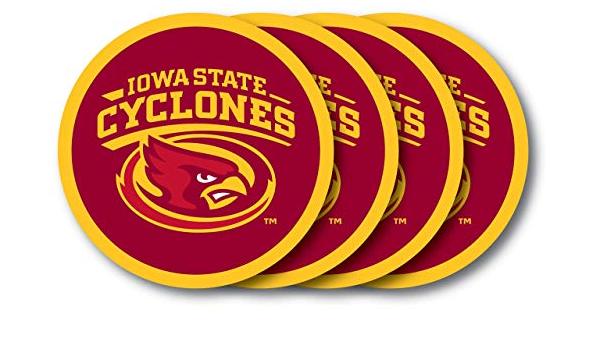 Set of 4 Sports Designs VictoryStore Coasters Iowa State University Coaster Set
