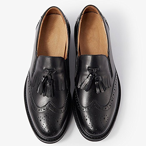 en Manches Black a ODEMA Women's Chaussures Cuir Longues qxS84Efw