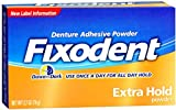 Fixodent Denture Adhesive Powder Extra Hold 2.70 oz (Pack of 8)