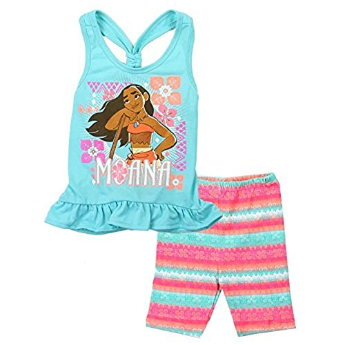 Bentex Disney Little Girls' Toddler Moana Bike Shorts Set (4T) ()