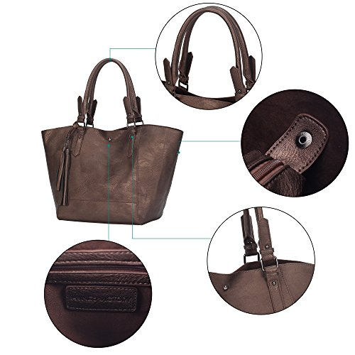 Bags Bags Chocolate Large Shoulder Women Top Tote For Veevan Handle Design Handbags x1qHYwwOv