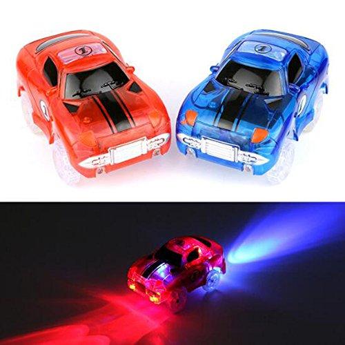 Électronique Pistes Led Clignotant Magique Voitures Jouet LED light up Clignotant LED Fantaisie Flexible Voiture De Piste Jouets interactifs pour Enfants