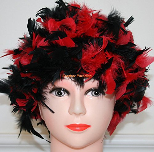 Black/Red Chandelle Feather Costume Wig Halloween Costume Coque Feather Wigs (Atlanta, GA)]()