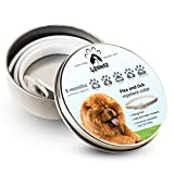 4pawzz Natural Ingredients Flea and Tick Collar for Dogs, Allergy-Free Collar against Fleas and Ticks, 8 Months Protection, 25 Inches Long