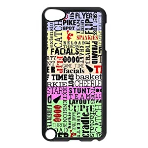Funny Creative Unique Cheerleader Cheer Style Ipod Touch 5th Case, Snap on Protective Cheerleader Ipod 5 Case