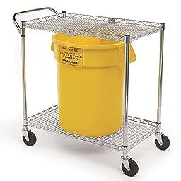Speakman SE-4360 Plastic 100 lb. Capacity GravityFlo Portable Eyewash Cart, 34\