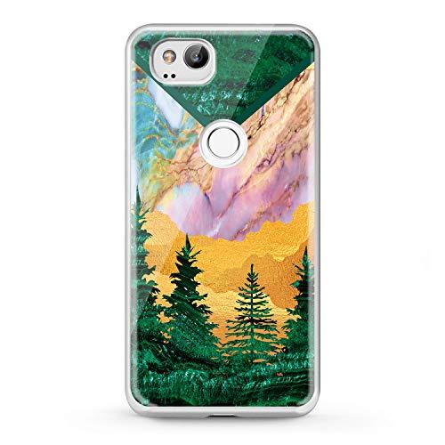 Lex Altern TPU Google Pixel 2016 Cases 3 XL 2 Green Tree Cover Marble Clear Phone Beautiful Print Desert Protective Modern Lightweight Mountain Design Girl Women Flexible Soft Silicone Idea Safe