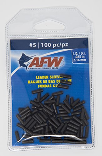 (AFW American Fishing Wire Single Barrel Copper Crimp Sleeves Leader Size 5)