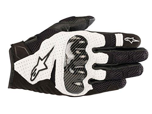 - Alpinestars SMX-1 Air V2 Motorcycle Riding/Racing Glove (Medium, Black/White)