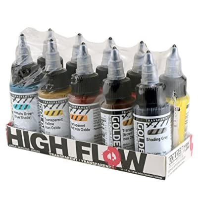 Golden 0000954-0 High Flow Acrylic 10-Color Transparent Set