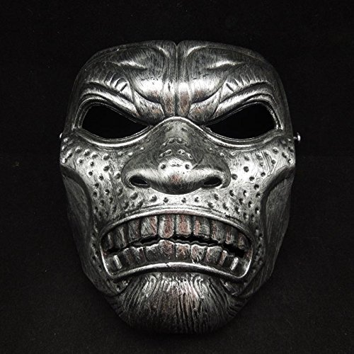 [Fashion Cosplay for Halloween Masquerade Carnival Party Prom Carnival Mask (Silver Warrior)] (Latex Devil Mask)