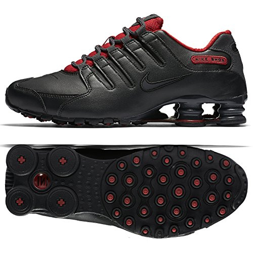 Nike Shox NZ SE Mens Shoes Black/Metallic Hematite/Red/Anthracite 833579-003 (9.5 D(M) US)