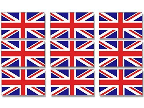 Sheet of 9 Union Jack Flag Sticker (UK Britain scrapbook decal)