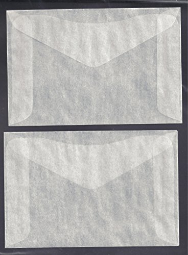 One Hundred (100) #4 Glassine Envelopes -- 3 1/4 x 4 7/8 Model: