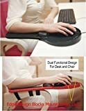 Premium Adjustable Computer Wrist Rest Armrest - Desk and Chair Dual Purpose Attachable Home&Office Computer Arm Support - Ergonomically Designed Mouse Pad Arm-stand Desk Extender (Black)