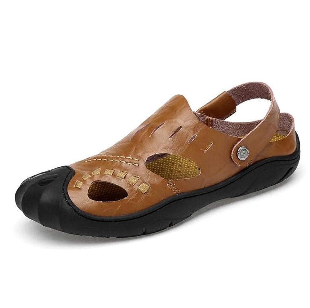 Brown,Lable 44//9 D M Mens Leather Sandals Comfortable Soles Breathable US Men
