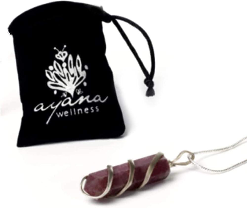 Raw Lepidolite Healing Crystal Necklace - For Reiki Trust Calm Hope Self Love Optimism Heart Chakra