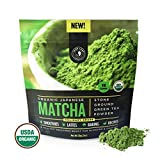 Matcha Green Tea Powder, Organic - Authentic Japanese Origin, Superior Quality Culinary Grade (Smoothies, Lattes, Baking, Recipes) - Antioxidants, Energy Boost - Jade Leaf Brand [30g Starter Size]