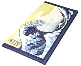 Japanese Hokusai Wave Mountain Two-fold Washi Rice Paper Wallet, Made in Japan