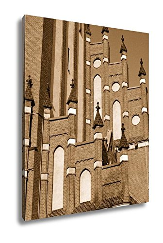 Ashley Canvas Church Of The Holy Family Kaliningrad Formerly Koenigsberg Russia, Wall Art Home Decor, Ready to Hang, Sepia, 20x16, AG5560996 by Ashley Canvas