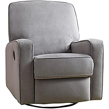 Pulaski Sutton Swivel Glider Recliner Zen Grey with Stella Piping  sc 1 st  Amazon.com & Amazon.com: Pulaski Sutton Swivel Glider Recliner Zen Grey with ... islam-shia.org