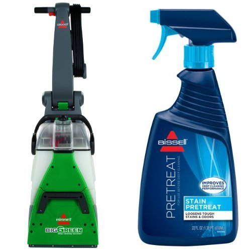 Bissell 86T3/86T3Q Big Green Deep Cleaning Professional Grade Carpet Cleaner Machine and BISSELL Stain Pretreat for Carpet & Upholstery, 22 oz. Bundle